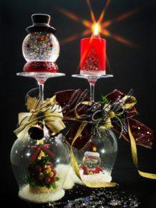 ワイングラススノードーム